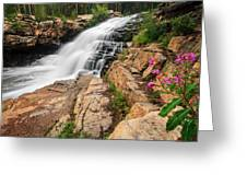 Provo River Falls 3 Greeting Card
