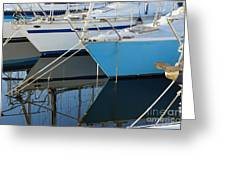 Prows Of Boats Greeting Card