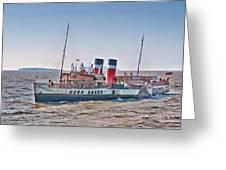 Ps Waverley Approaching Penarth Greeting Card