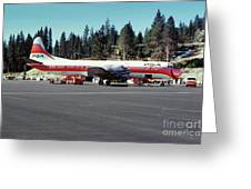 Psa Lockheed L188c Electra   N171p Cindy Lake Tahoe Airport Greeting Card by Wernher Krutein