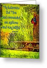 Psalm 119 138 Greeting Card