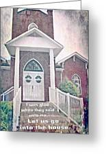 Psalm 122 1 Greeting Card