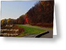 Psalm 18 32 Greeting Card