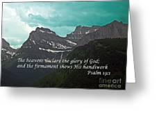 Psalm 19 1 On The Rocky Mountains Greeting Card