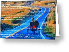 Psalm 23 Country Roads Greeting Card