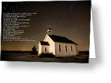 Psalm 23 Night Photography Star Trails Greeting Card