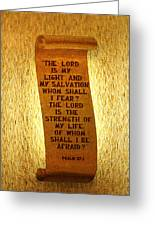 Psalm 27 Greeting Card by James Hammen