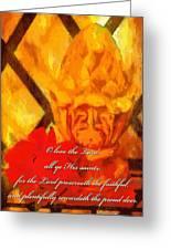 Psalm 31 23 Greeting Card