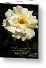 Psalm 55 22 Greeting Card