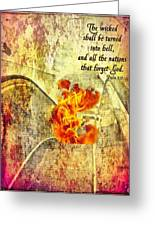 Psalm 9 17 Greeting Card