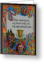 Psalms 23-5b Greeting Card