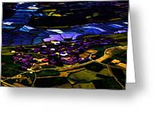Psychadelic Aerial View Greeting Card