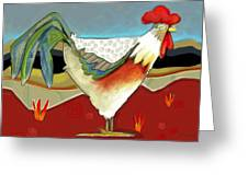 Psychadelic Chicken 2 Greeting Card