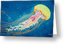 Psychadelic Jelly Greeting Card by Jeff Lucas