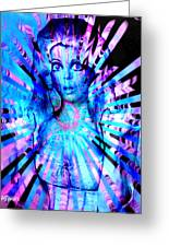 Psychedelic Barbie Greeting Card
