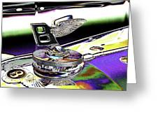 Psychedelic Bentley Mascot 2 Greeting Card
