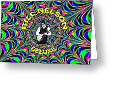 Psychedelic Bill Nelson Deluxe Greeting Card