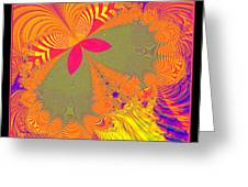 Psychedelic Butterfly Explosion Fractal 61 Greeting Card
