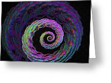 Psychedelic Conch Greeting Card