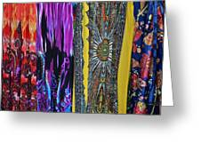 Psychedelic Dresses Greeting Card
