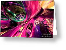 Psychedelic Fun House Abstract Greeting Card