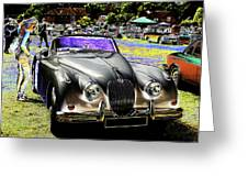 Psychedelic Jaguar Xk120 Classic Car 1 Greeting Card