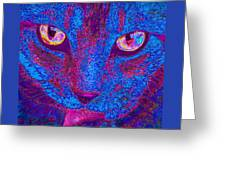 Psychedelic Kitty Greeting Card