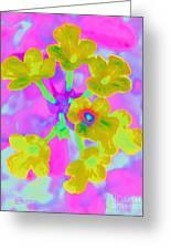 Psychedelic Lantana Greeting Card