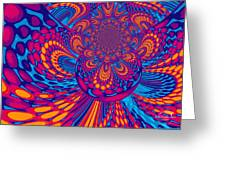 Psychedelic Mind Trip Greeting Card