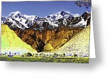 Psychedelic Southern Alps New Zealand Greeting Card