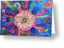 Psychedelic Squid 2 Greeting Card