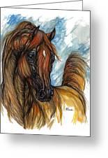 Psychodelic Chestnut Horse Original Painting 2 Greeting Card