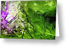 Psychological State In Green Greeting Card