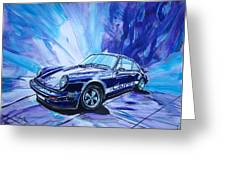 Psycodelic Porsche 911 Carrera. Greeting Card