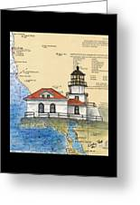 Pt Bonita Lighthouse Ca Nautical Chart Map Art Greeting Card