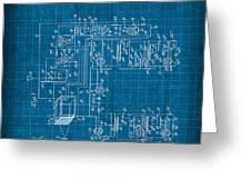 Pt Farnsworth Television Patent Blueprint 1930 Greeting Card