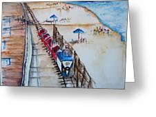 Pt Pleasant Nj Sand Train Greeting Card