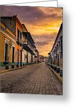 Pto Cabello Colonial District Greeting Card