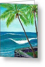 Puako Sea Wall Greeting Card