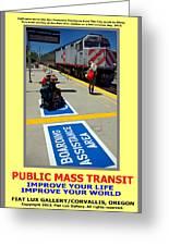 Public Mass Transit Greeting Card