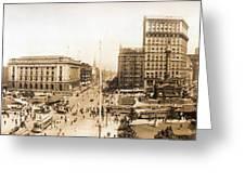 Public Square Cleveland Ohio 1912 Greeting Card