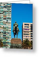 Public Statue Of General Artigas In Montevideo Greeting Card