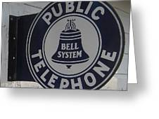 Public Telephone Greeting Card