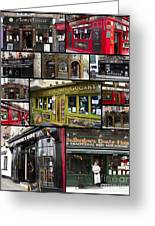 Pubs Of Dublin Greeting Card by David Smith