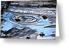 Puddle Water Droplet Greeting Card