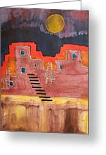 Pueblito Original Painting Greeting Card