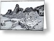 Pueblo Bonito In Black Greeting Card