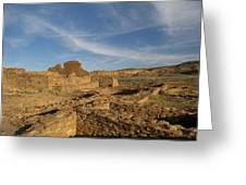 Pueblo Bonito Walls And Rooms Greeting Card