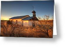 Pueblo Church Greeting Card by Peter Tellone