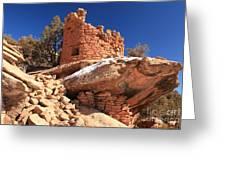 Pueblo Cliff Greeting Card